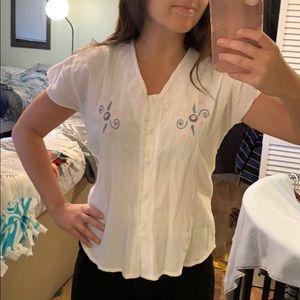 White linen T-Shirt from Ecuador